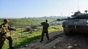 """חיילי צה""""ל ברמת הגולן, אתמול (צילום: בסל עווידת)"""