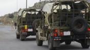 """כוחות צה""""ל בכניסה לאתר החרמון, 27.1.15 (צילום: בסאל עוידאת)"""