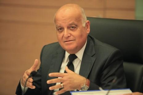 """יו""""ר ועדת הבחירות המרכזית, השופט סלים ג'ובראן (צילום: יצחק הררי)"""