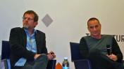 יון פדר (מימין) וערן טיפנברון, 2.3.15 (צילום: אורן פרסיקו)