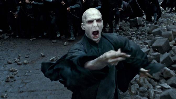 """דמותו של לורד וולמדורט, הנבל מסדרת """"הארי פוטר"""" (צילום מסך)"""