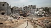 """חורבות בתים שנהרסו במהלך מבצע """"צוק איתן"""", שג'עייה, רצועת עזה, 27.1.15 (צילום: פלאש90)"""
