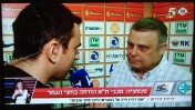 רועי גלדסטון מראיין את דייויד פדרמן בערוץ הספורט (צילום מסך)
