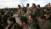 יאסר ערפאת מבקר בחברון, 1997 (צילום: נתי שוחט)