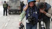 צלמי עיתונות בחברון, 2010 (צילום: נאג'ה השלמון)