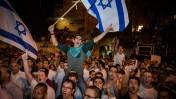 הפגנת הימין סמוך למעון הרשמי של ראש ממשלת ישראל, 5.10.15 (צילום: הדס פרוש)