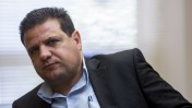 Leader of the Joint Arab list, Ayman Odeh leads the weekly Joint Arab list meeting at the Knesset. Jerusalem, June 1, 2015. Photo by Yonatan Sindel
