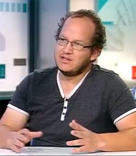 """חיים לוינסון (צילום מסך מתוך התוכנית """"תיק תקשורת"""")"""