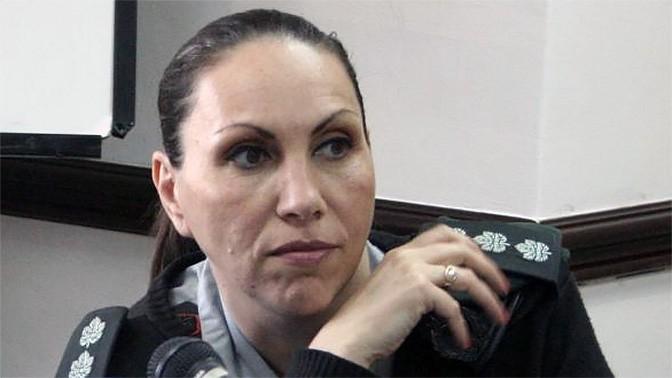 הצנזורית הראשית אריאלה בן-אברהם במליאת מועצת העיתונות, 28.3.16 (צילום: אורן פרסיקו)