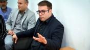 """ח""""כ אורן חזן בבית-משפט השלום בתל-אביב, בדיון על תביעת הדיבה שהגיש נגד עמית סגל. 6.3.16 (צילום: פלאש 90)"""