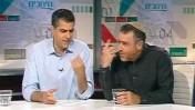 """ברוך קרא ושמעון ריקלין באולפן """"תיק תקשורת"""" (צילום מסך)"""
