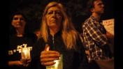 עצרת זיכרון למשה סילמן, יום אחרי שנפטר מפצעיו, 21.7.12 (צילום: מרים אלסטר)
