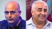 """יו""""ר מכון היצוא רמזי גבאי (מימין) ועורך ynet אמנון מרנדה (צילומי מסך)"""