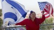 תומכת טרמאפ בעצרת בחירות בירושלים, 26.10.16 (צילום: יונתן זינדל)