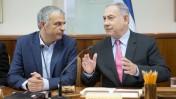 ראש הממשלה בנימין נתניהו ושר האוצר משה כחלון, 11.8.16 (צילום: אמיל סלמן)