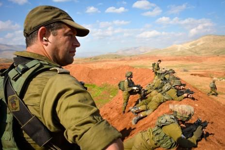 """עופר וינטר במהלך תרגיל צבאי (צילום: דובר צה""""ל)"""