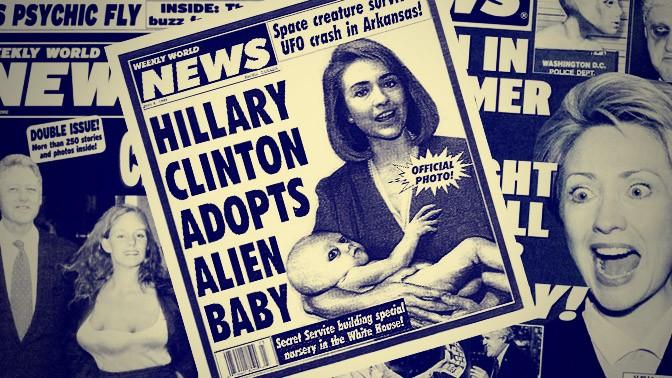 """שערים של ה""""Weekly World News"""""""