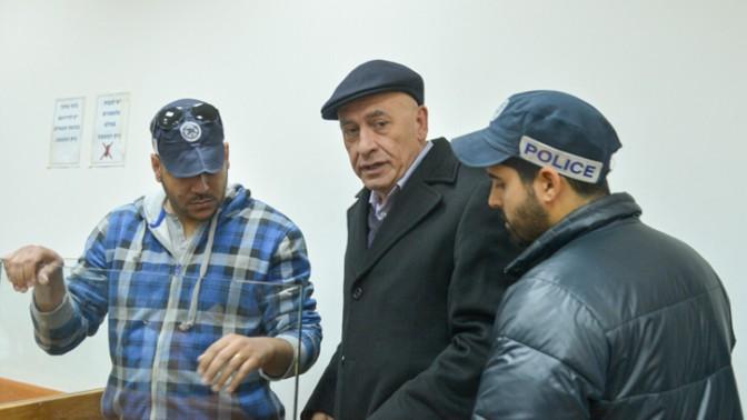 """ח""""כ באסל גטאס בדיון בהארכת מעצרו בבית-המשפט המחוזי בראשון-לציון, 21.12.16 (צילום: אבי דישי)"""