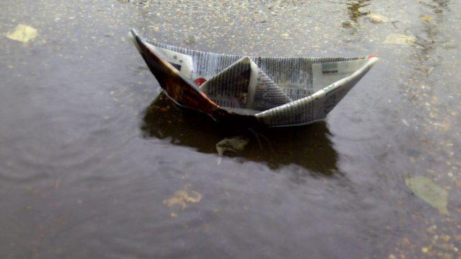 סירת נייר (צילום: רומנה, רשיון cc-by-nc-sa)