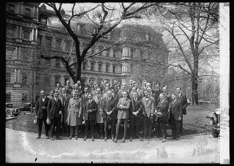 אגודת כתבי הבית הלבן, 1924 (צילום: ספריית הקונגרס)