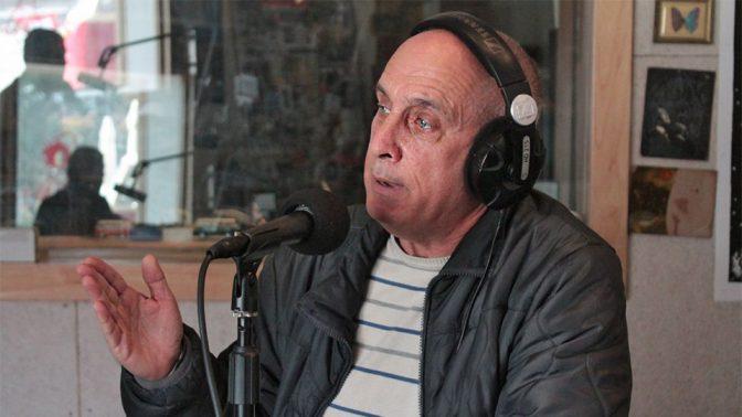 """מיקי מירו בתוכנית """"קול העין"""" באולפן קול-הקמפוס, 29.12.2016 (צילום: נמרוד הלברטל)"""