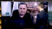 """שר התחבורה, ישראל כץ, בראיון הממומן בתוכנית """"חי בלילה"""" (מימין: המנחה, נדב בורנשטיין), 2014 (צילום מסך)"""