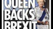 """""""המלכה תומכת ביציאה מהאיחוד"""", שער של ה""""סאן"""" (פרט)"""