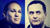 """מימין: שר התחבורה ישראל כץ ועורך """"ידיעות אחרונות"""" רון ירון (צילומים מעובדים. צילומים מקוריים: פלאש 90)"""