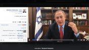 ראש הממשלה, בנימין נתניהו, מדבר עם גולשיו בשידור חי בפייסבוק, אפריל 2017 (צילום מסך)