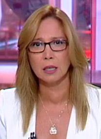"""אושרת קוטלר, מגישת """"המגזין"""" של ערוץ 10 (צילום מסך)"""