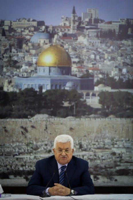 """מחמוד עבאס (אבו-מאזן), יו""""ר הרשות הפלסטינית, 25.7.17 (צילום: פלאש 90)"""