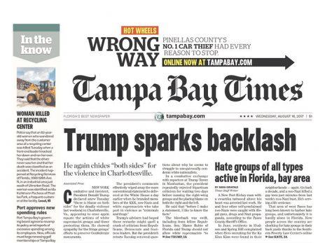 """""""טאמפה ביי טיימס"""": טראמפ מעורר מחלוקת"""