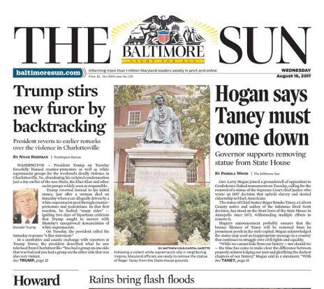 """""""בולטימור סאן"""": טראמפ מעורר שוב זעם"""