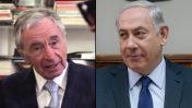 מימין: ראש הממשלה בנימין נתניהו והבעלים של חיפה כימיקלים ג'ולס טראמפ (צילומים: צילום מסך ופלאש 90)
