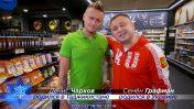 """סמיון גרפמן ודניס צ'רקוב בקמפיין """"אני ישראלי רוסי"""" של ערוץ 9 ו""""יינות ביתן"""" (צילום מסך)"""